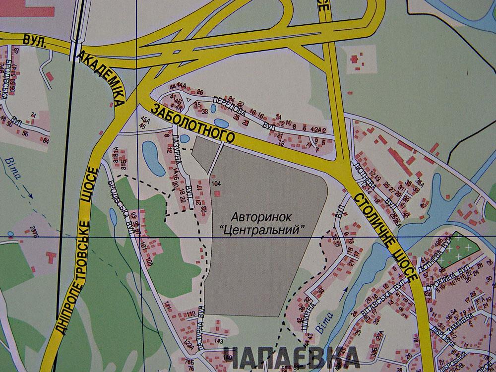 Карта Киев. Cхема проезда.
